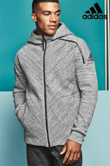 adidas Grey Z.N.E Travel Zip Through Hoody