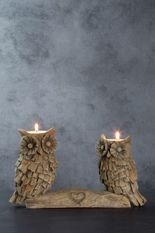 Driftwood Owl Tealight Holder