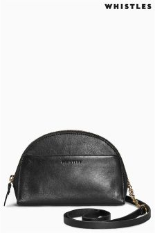 Whistles Black Corso Half Moon Micro Cross Body Bag