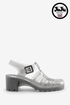 Black Karen Millen Leather and Chain Shoulder Bag