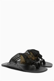 Leather Toe Loop Sandals