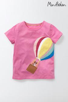 Boden Pink Appliqué T-Shirt
