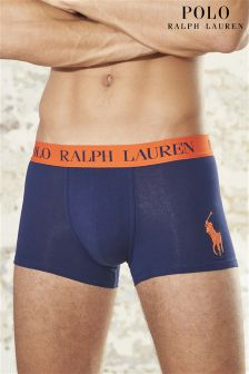 Ralph Lauren Navy With Orange Band Boxer