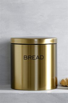 Gold Effect Bread Bin