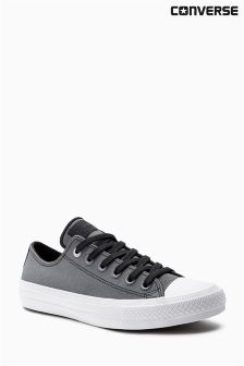Converse Black Marl Leather Chuck Taylor All Star ll