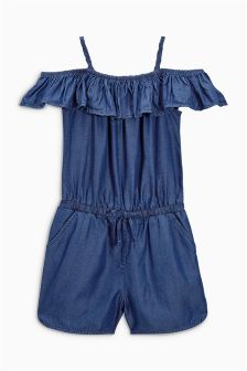 Stripe Ruffle Playsuit (3-12yrs)