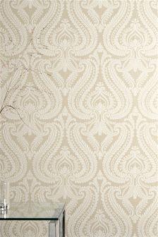 Pearl Scroll Wallpaper