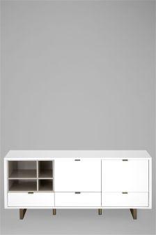 Logan White Large Sideboard