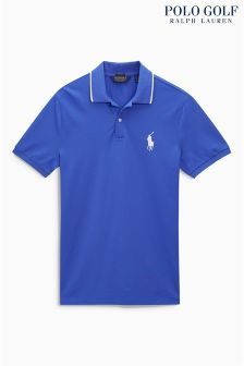 Ralph Lauren Polo Golf Blue Pique Polo