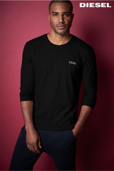 Diesel® Black Long Sleeve T-Shirt