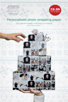 Personalised Photo Wrapping Paper Gift Card
