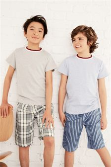 Woven Short Pyjamas Two Pack (3-16yrs)