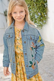 Longline Embroidered Western Jacket (3-16yrs)