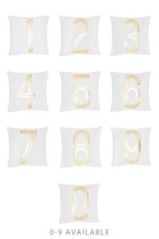 Gold Foil Numbers Cushion