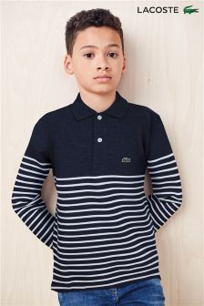 Lacoste® Long Sleeved Stripe Polo