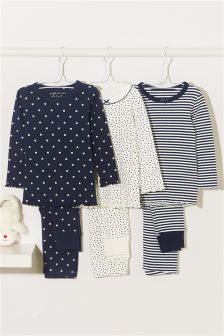 Snuggle Pyjamas Three Pack (9mths-8yrs)
