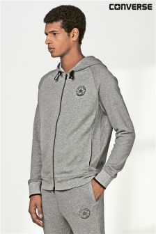 Converse Grey Two Way Zip Through Hoody
