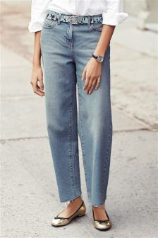 Wide Ankle Length Jeans