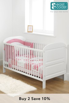 Angelina Cot Bed White By East Coast