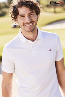 Ralph Lauren Polo Golf RLX White Airflow Polo
