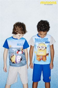 Minions Short Pyjamas Two Pack (3-10yrs)
