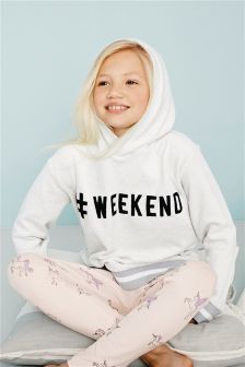 Slogan Hoody And Leggings Lounge Set (3-16yrs)