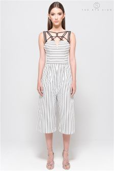 The 8th Sign Black/White Plaza Jumpsuit