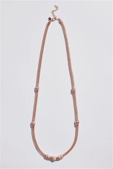 Sparkle Bead Long Necklace