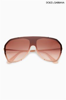 Dolce And Gabbana Pink Rimless Aviator
