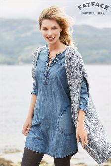 Fat Face Midwash Charlotte Denim Dress