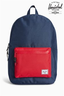 Herschel Supply Company Navy/Red Colourblock Settlement Backpack