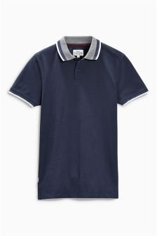 Jacquard Collar Polo