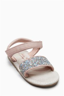 Glitter Strap Sandals (Younger Girls)