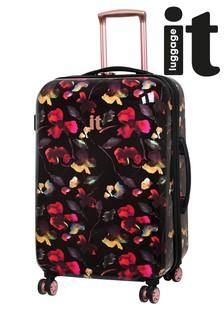 IT Luggage Dark Floral Expander Suitcase Medium