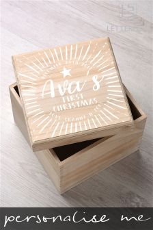 Personalised Babys First Christmas Keepsake Box By Letterfest
