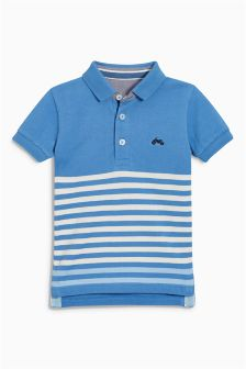 Short Sleeve Stripe Polo (3mths-6yrs)