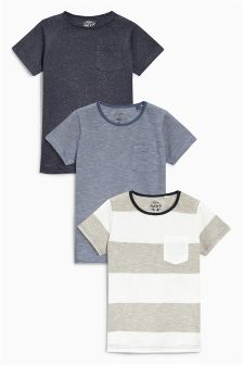 Blue T-Shirts Three Pack (3-16yrs)