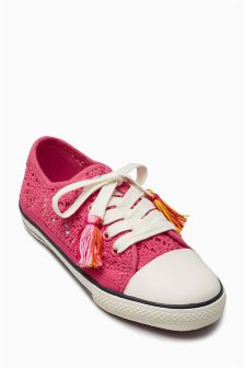 Crochet Low Top Pumps (Younger Girls)