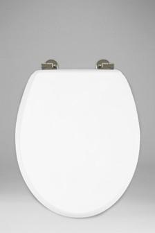 White Antibacterial Toilet Seat