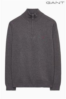 Gant Grey Half Zip Jumper