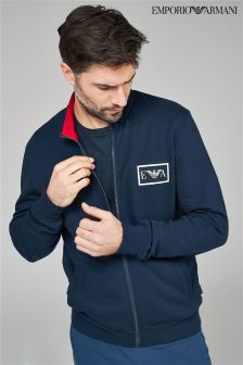 Emporio Armani Navy Zip Through Sweat