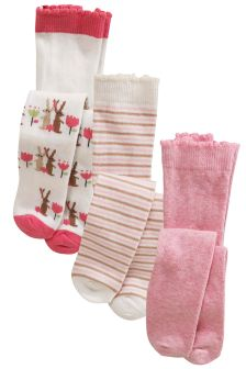 Bunny Tights Three Pack (0mths-2yrs)