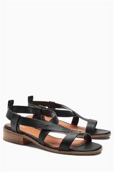 Block Heel Strap Sandals