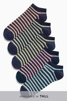 Stripe Trainer Socks Five Pack