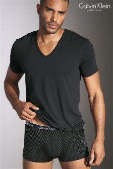 Calvin Klein Black Printed Boxer
