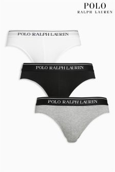 Ralph Lauren Black/White/Grey Briefs Three Pack