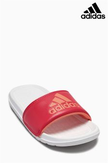 adidas Pink/White Voloomix Slide Sandal