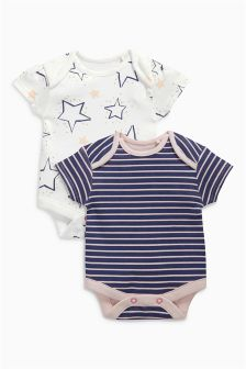 Fairy Short Sleeve Bodysuits Two Pack (0mths-2yrs)