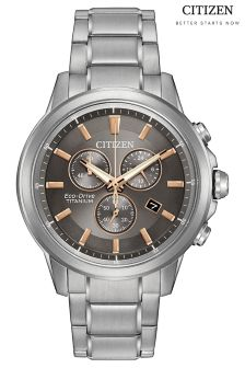 Citizen Eco Drive® Titanium Chrono Bracelet Watch