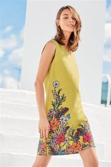 Floral Linen Blend Dress